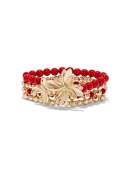 Floral Beaded Bracelet  - New York & Company
