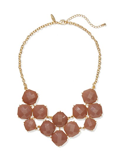 Floral-Cabochons Bib Necklace