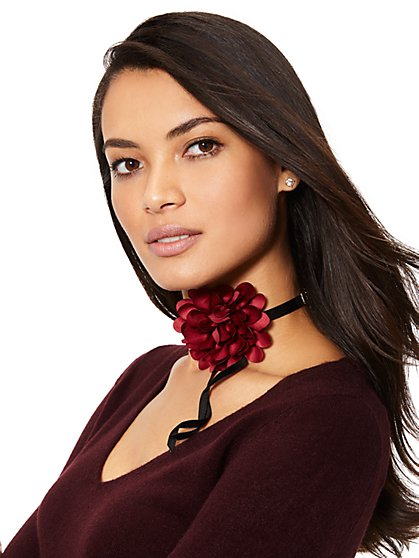 Floral Choker Necklace  - New York & Company