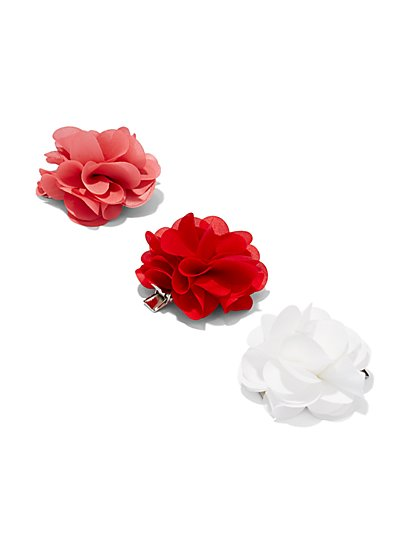 Floral Clip Set  - New York & Company