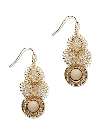 Floral Cluster Drop Earring  - New York & Company