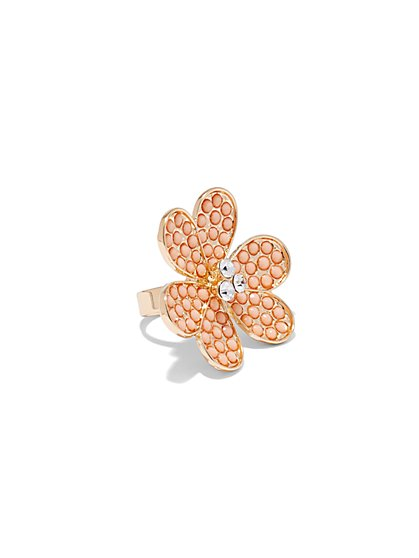 Floral Cocktail Ring  - New York & Company