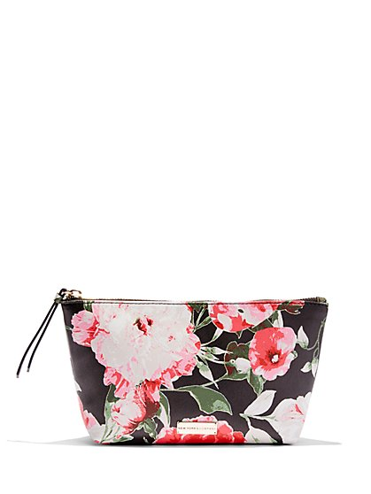 Floral Cosmetic Bag  - New York & Company