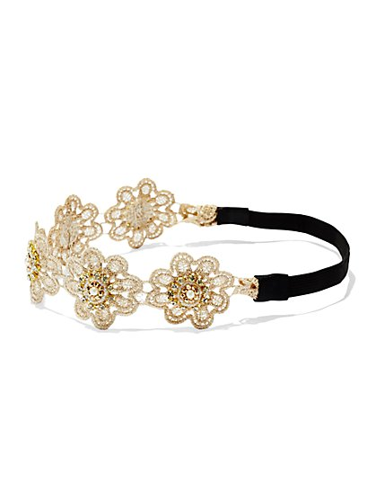 Floral Crochet Headband  - New York & Company