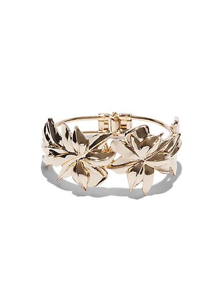 Floral Cuff Bracelet  - New York & Company