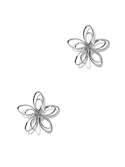 Floral Cutout Post Earring  - New York & Company