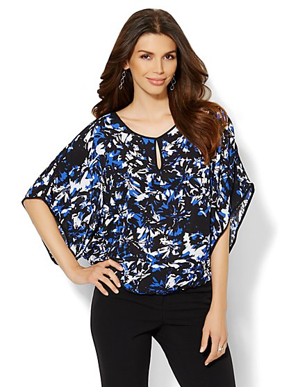 Floral Dolman-Sleeve Blouse  - New York & Company