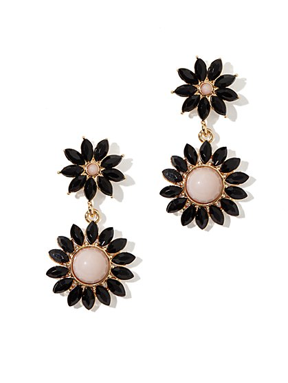 Floral Double-Drop Earring