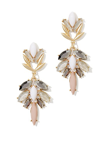 Floral Drop Statement Earring