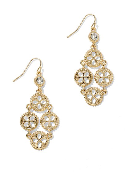 Floral Filigree Drop Earring  - New York & Company