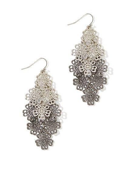 Floral Filigree Drop Earring - New York & Company