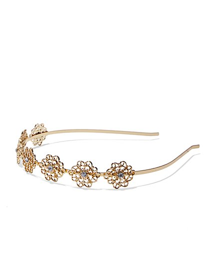 Floral Filigree Headband  - New York & Company