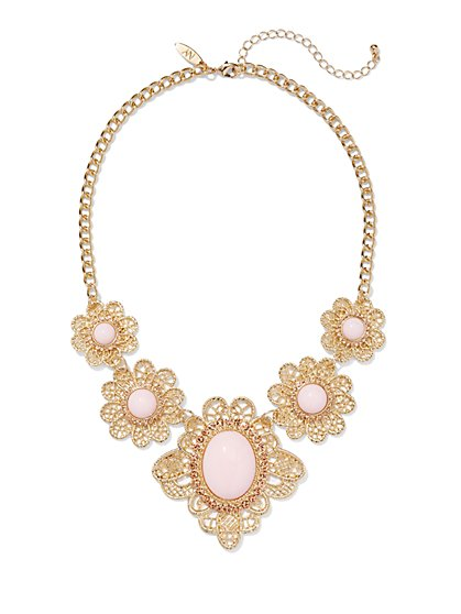Floral Filigree Necklace  - New York & Company