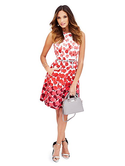 Floral Flare Dress - New York & Company