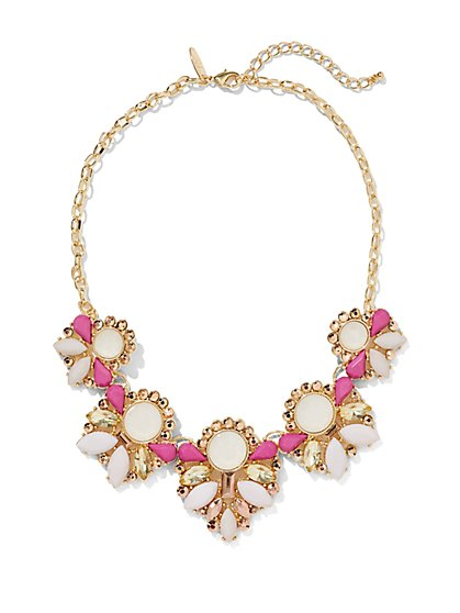 Floral & Geo Necklace  - New York & Company