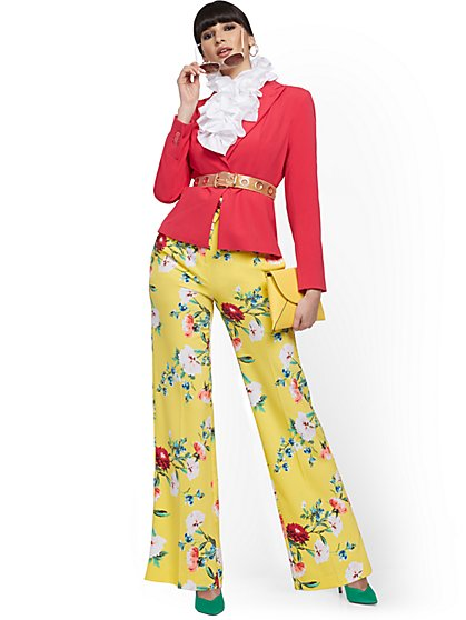Floral High-Waisted Palazzo Pant - New York & Company