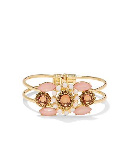 Floral Hinge Bracelet  - New York & Company