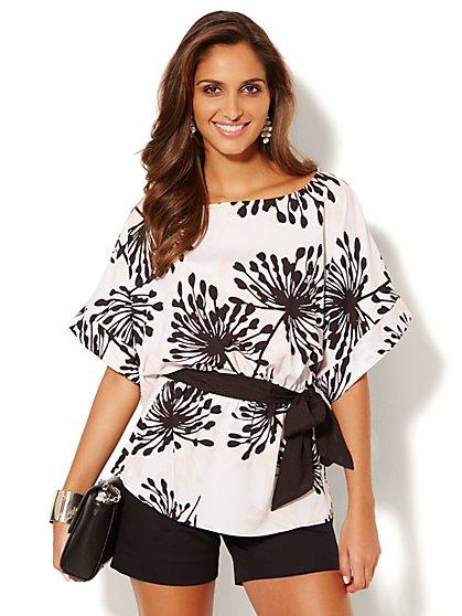 Floral Kimono Blouse  - New York & Company