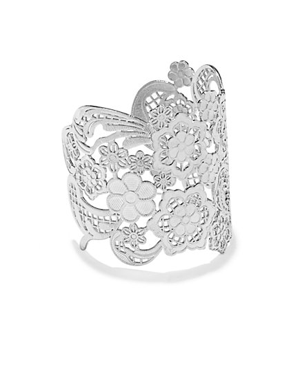 Floral Lace Cuff Bracelet  - New York & Company