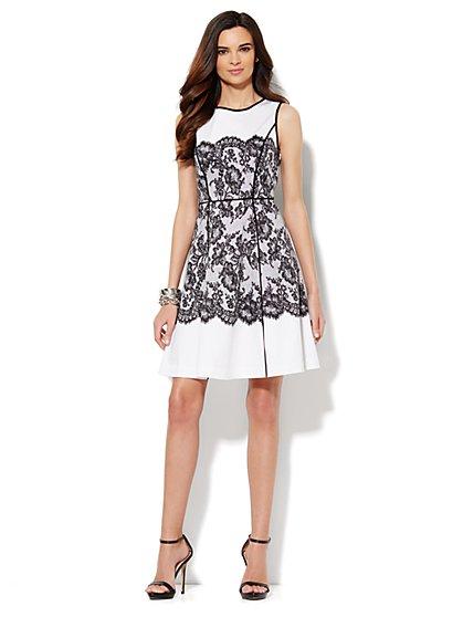 Floral-Lace Print Dress
