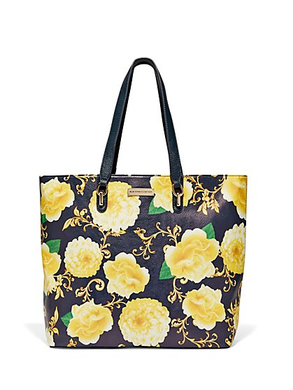 Floral & Medallion-Print Tote  - New York & Company