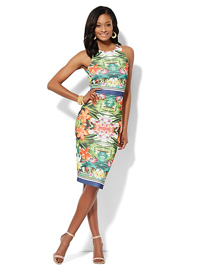 Floral Midi Sheath Dress  - New York & Company