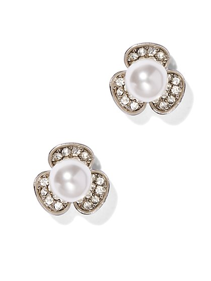 Floral Pearl Earring  - New York & Company