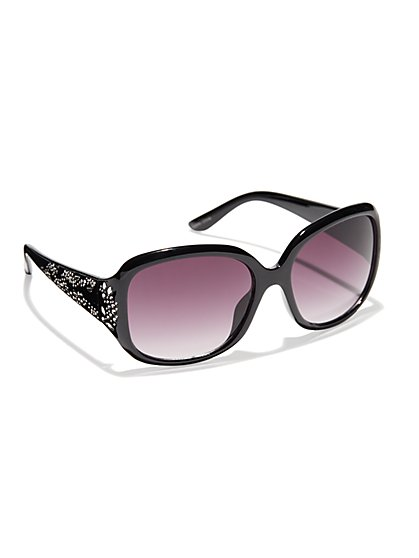 Floral-Perforated Sunglasses - New York & Company