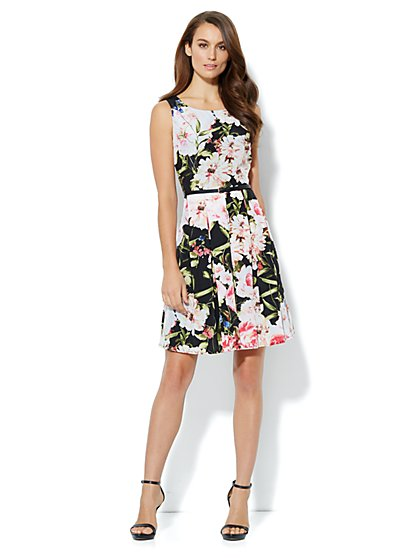 Floral Pleated Dress