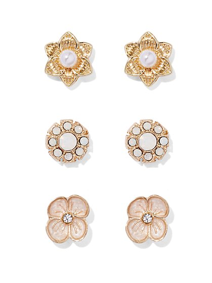 Floral Post Earring Set  - New York & Company