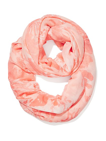 Floral-Print Infinity Scarf  - New York & Company