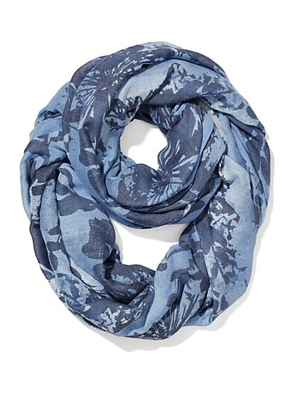 Floral-Print Infinity Scarf  - New York & Company