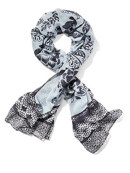Floral-Print Scarf  - New York & Company