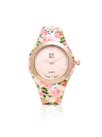 Floral-Print Watch  - New York & Company