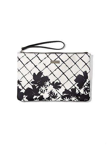 Floral-Print Wristlet  - New York & Company