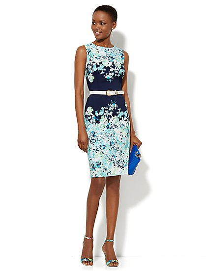 Floral Sheath Dress  - New York & Company