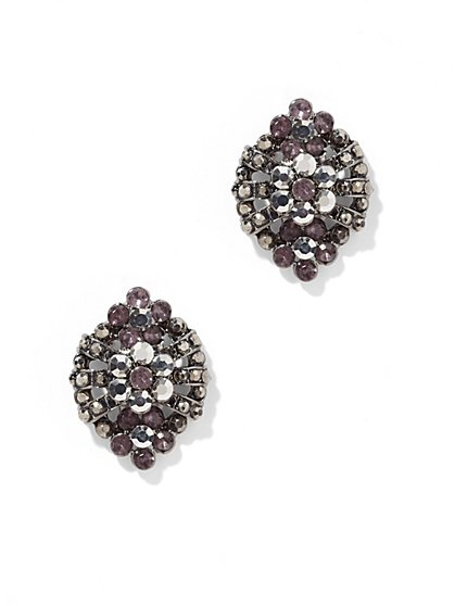 Floral Shield Post Earring  - New York & Company