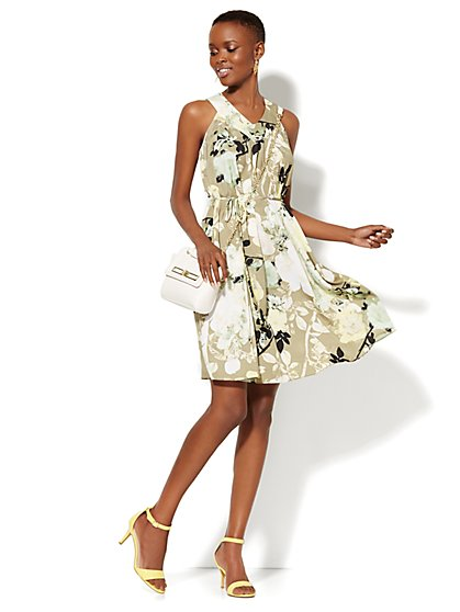 Floral Sleeveless Dress  - New York & Company