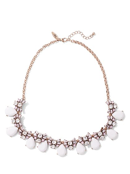 Floral Teardrop Collar Necklace  - New York & Company