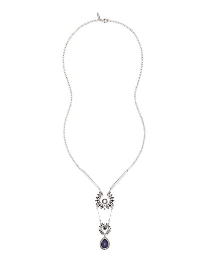 Floral & Teardrop Pendant Necklace  - New York & Company