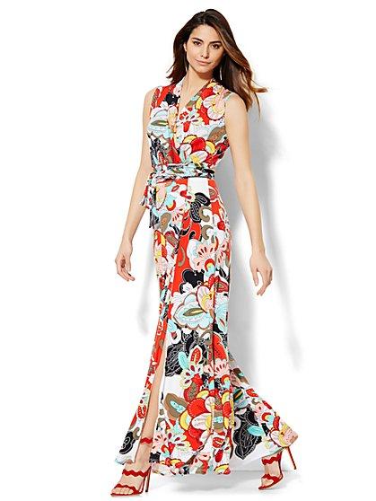 Floral Wrap Maxi Dress - New York & Company