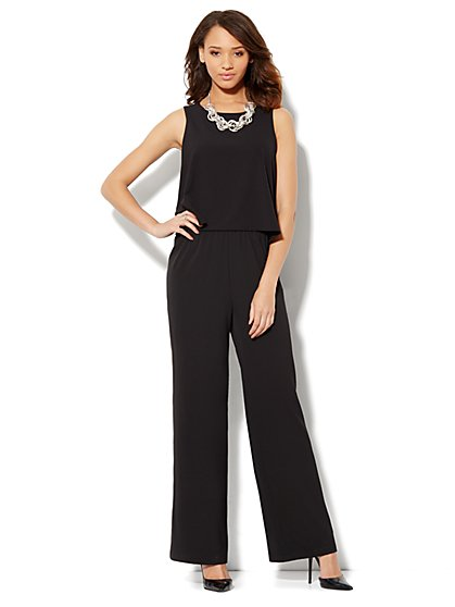 Flounce Overlay Jumpsuit - New York & Company