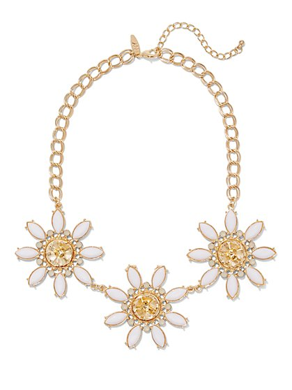 Flower Trio Necklace  - New York & Company