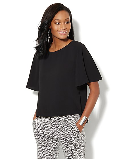 Flutter-Sleeve Blouse  - New York & Company