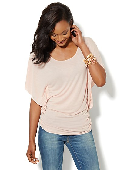 Flutter-Sleeve Knit Top - New York & Company