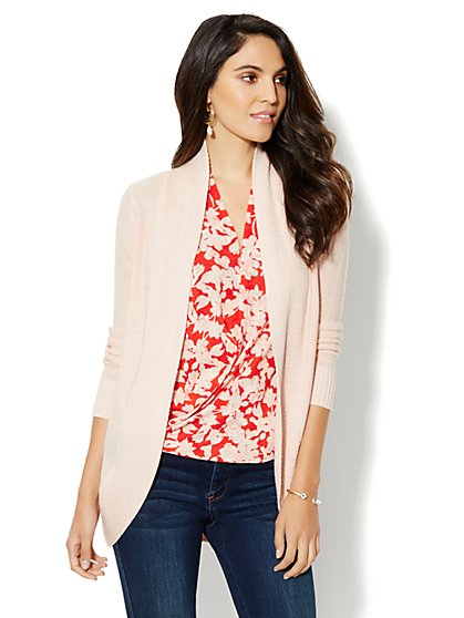 Flyaway Circle-Hem Cardigan - New York & Company