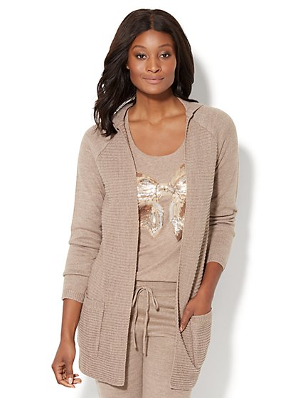 Flyaway Hooded Sweater - New York & Company