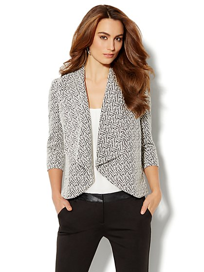 Flyaway Jacquard Jacket - New York & Company