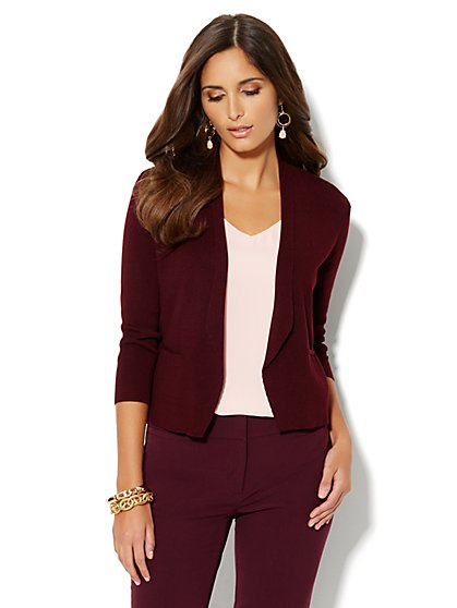 Flyaway Lapel Cardigan - New York & Company
