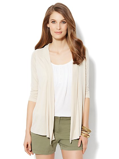 Flyaway Solid Cardigan - New York & Company